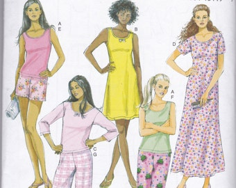 B5432 Butterick Top, Gown, Shorts, and Pants Sewing Pattern Sizes XS-S-M (4-14) Fast and Very Easy Rating