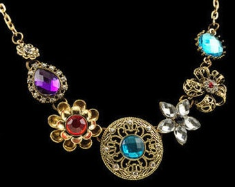Glam Vintage Inspired Handmade Necklace