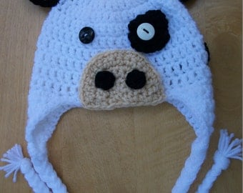 Cow Earflap Hat