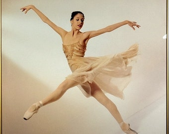 Amazing First Ballerina Dancing Photo Poster for American Ballet Theater