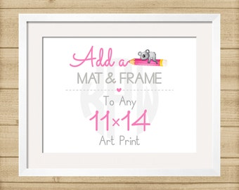 Add a Mat & Frame to Your 11x14 Print