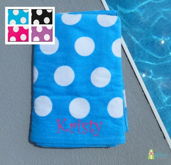 Monogrammed Beach Towel Personalized Pool Towel By