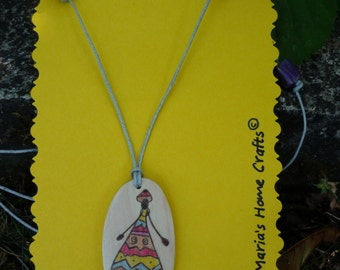 African Woman Necklace