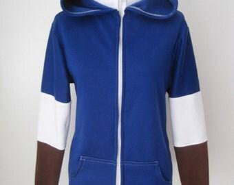 The Legend of Zelda Zora Blue Link Cosplay Costume Tunic Hoodie Jacket