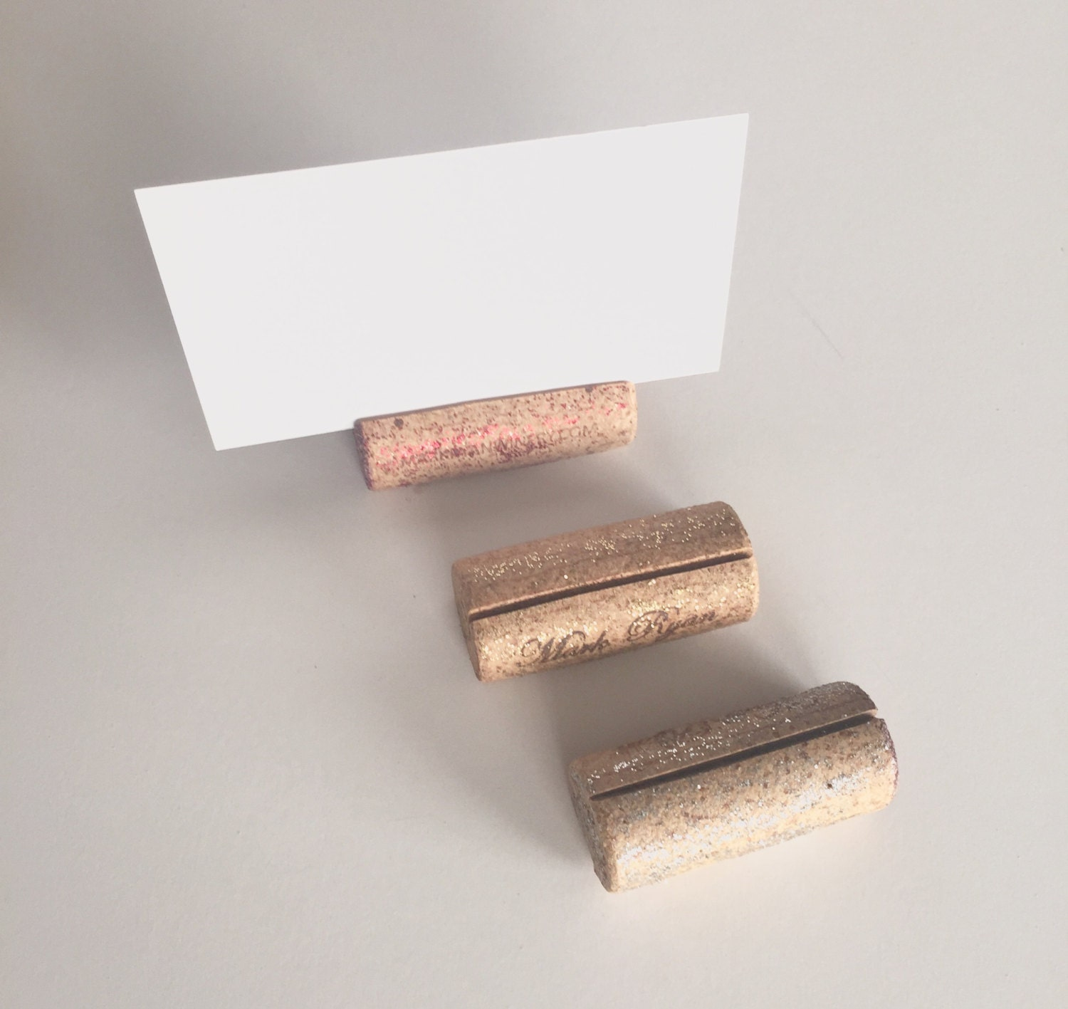 Wine Cork Table Numbers: Wine Cork Place Card Holders 25 Wine Cork By