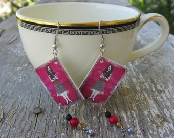 Amy Earrings ~ Original Artwork BY Rebecca Jerahian