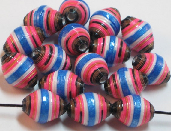 Basket Weaving Supplies Eugene Oregon : Paper beads bead jewelry recycled