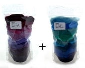 Purple and Blue 24 colours - Needle Felter's Palette - Merino Wool Roving