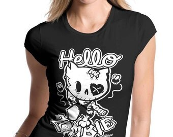 Womens Hello Zombie T Shirt SD1146