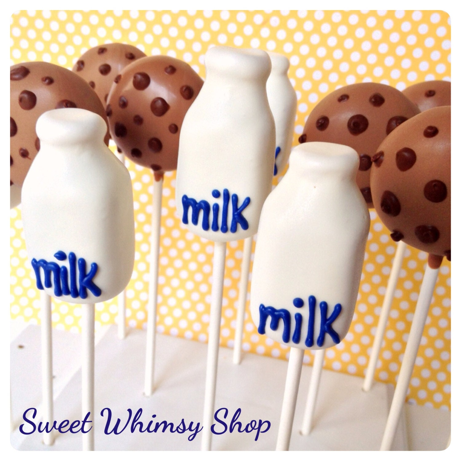 12 Cookies And Milk Bottle Cake Pops For Sleepover Or Pajama