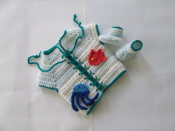Items similar to Crochet Baby Vest & booties vegan Baby