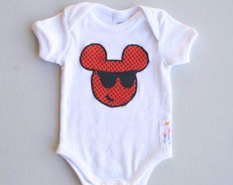 Mickey Mouse Bodysuit Onesie Baby Boy Girl