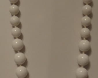 Lucite strung beads White made in America