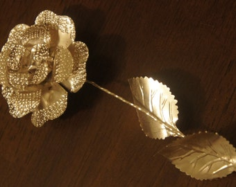 Sterling Silver Decorative Rose