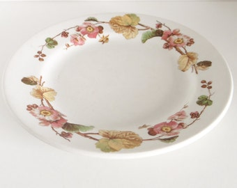 Vintage Clarice Cliff Plate Bramble Rose Design Royal Staffordshire  Circa 1950s