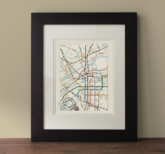 Osaka map vintage inspired map osaka wall art rustic wall - Vintage inspired wall art ...
