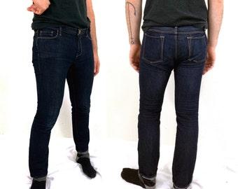 Dark Blue Denim Skinny Fit Banana Republic Jeans