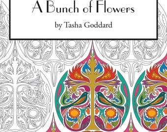 A Bunch of Flowers - Grown-up Colouring Book