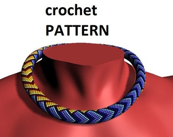 Bead crochet pattern beading necklace geometric pattern for necklace patterns master Class jewelry tutorial PDF crochet beads make necklace