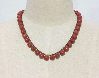 Red Jasper Stone Necklace