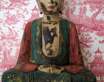 Vintage Seated Buddha