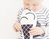 Nursery pillow, Kids Pillow- Ice Cream