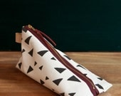 Work at home design pencil case with triangle pattern