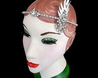 Great Gatsby Headpiece, Gatsby Headband, Art Deco Headpiece, Bridal Headpiece, 1920s, Flapper Headband, Wedding, Event, Authentic Vintage