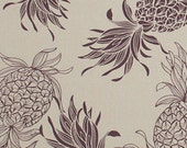 PINEAPPLE SILHOUETTES: Taupe Tropical Fabric (1/2 Yd)