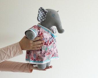 Chubby stuffed elephant - soft doll - Soft toy for girl - Plush doll - Cuddly toy - Fiona the O'Fantie - Elephant plush - Stuffed animal