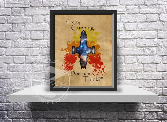 Custom Firefly Jayne Cobb Serenity print poster choose quote, size and frame