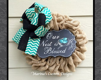 Burlap Anytime Wreath (Nest is Blessed)