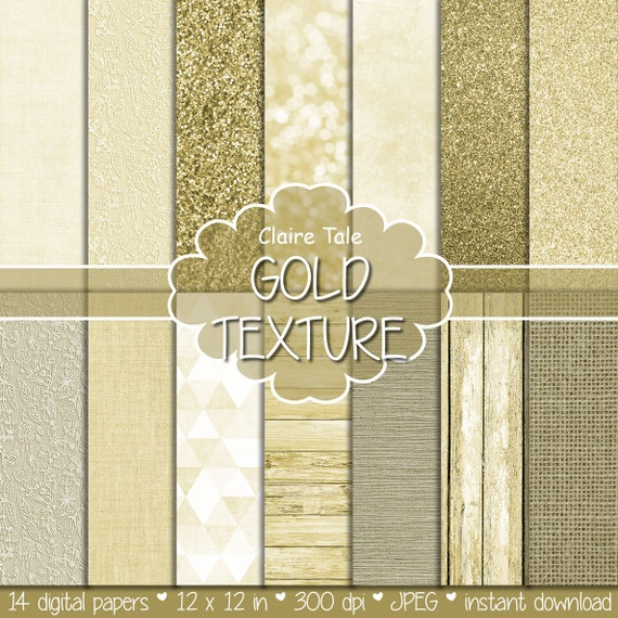 "Gold paper: ""GOLD TEXTURES"" with gold glitter, linen, burlap, canvas, lace, watercolor, wood background/backdrop for photographers"