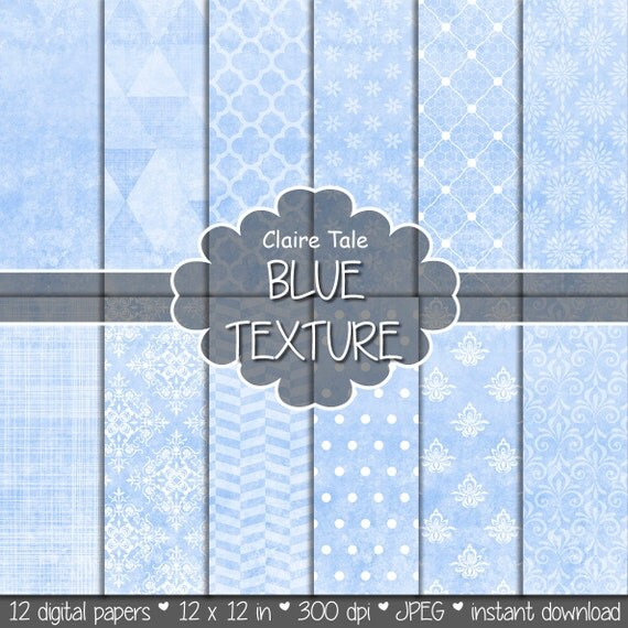 Baby blue digital paper, Baby blue printable paper, Baby blue scrapbook paper, Baby blue printable background, Baby blue texture, Blue paper