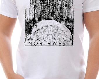 Men's Pacific Northwest Tree Stump T-Shirt