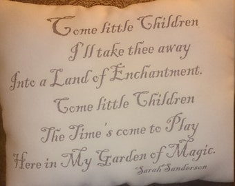 Come Little Children Hocus Pocus Decorative Halloween Pillow