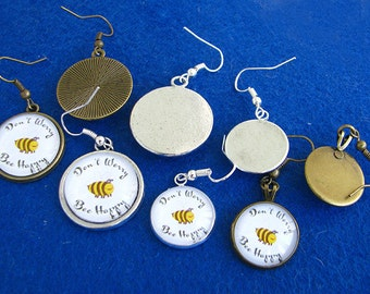 Custom earrings your picture photo image made to order present