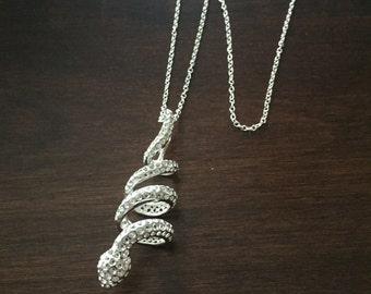 Snake Necklace, Snake Jewelry, Snake Pendant, Snake, Snakes, Silver Snake, Silver Snake Necklace, Jewellery, Silver Necklace, Necklace