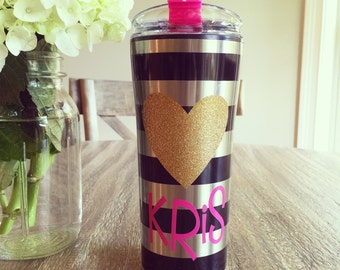 Personalized 16oz Stainless Steel Travel Tumbler