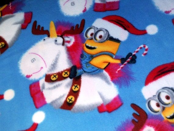 Minions Bob Fleece Throw Unicorn Christmas Reindeer