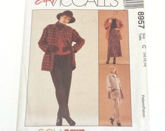 McCall's 8957, Sew News Pattern, McCall's Pattern, Four Piece Suit, Size 10 12 14, Suit Pattern, The Fashion Collection