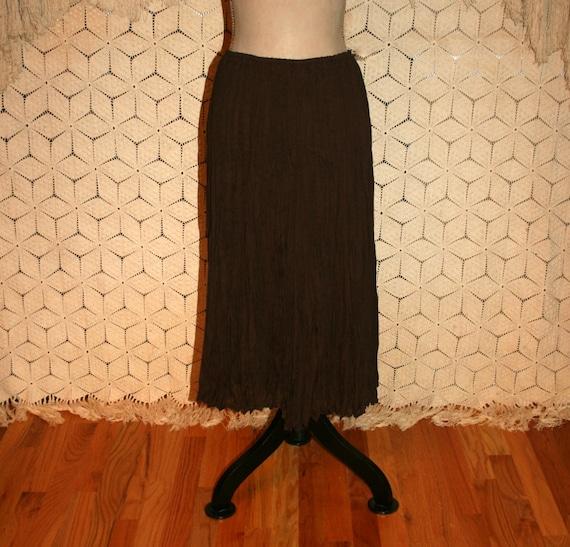 Brown Crinkle Skirt 102