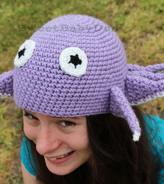 Crochet Octopus Hat : Octopus Hat, Crochet Character Hat, Nautical Themed, Kids Accessory ...