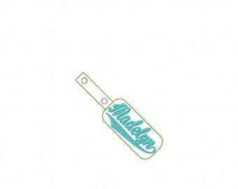 Madelyn- Name - In The Hoop - Snap/Rivet Key Fob - DIGITAL EMBROIDERY DESIGN
