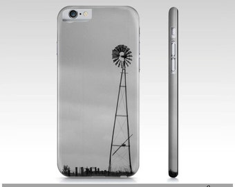 Windmill iPhone Case, Black And White iPhone 6 Case, iPhone 6 Art Case, Fine Art Photography, Old Windmill In The Country Photo Phone Case
