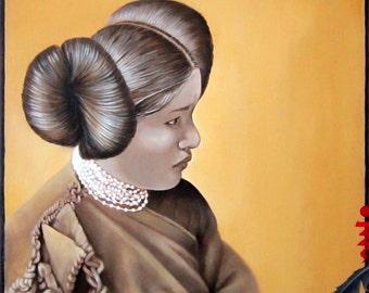 HOPI MAIDEN - Native American Portrait on Canvas