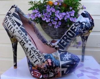 Custom Made Wedding Style Comic Book Heels