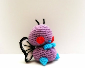 Crochet Butterfree Inspired Chibi Pokemon (Shiny is also available)