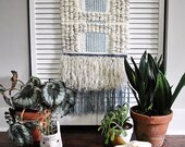 READY TO SHIP - Indigo Weaving // Woven Wall Hanging // Woven Tapestry