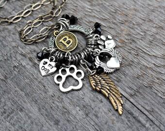 Dog Angel Necklace, Dog Keepsake, Dog Memorial, Dog Memorial Jewelry, Pet Memorial Jewelry